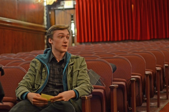 Mason Quilty, lead role Hanschen in the upcoming play, Spring Awakening, joins in the conversation with fellow actors, teachers and parents at the Media Theatre. ( Philadelphia Inquirer, March 26, 2012 )