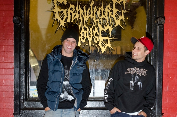 Dave Anthem (left) and Mike Barone (right) opened a vegan cafe in South Philly called The Grindcore House. They wanted to create a place that promoted conversation. ( JUMP Magazine, November 11, 2012 )