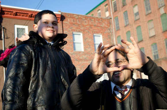 Tony Rocco teaches his student, Christopher Javier (12), to visualize the world around them differently. ( Philadelphia Inquirer, February 12, 2012 )