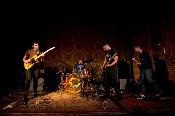 From left: Rishi Arora, Tim Cooper, Brian Vasallo, Dave Masters
